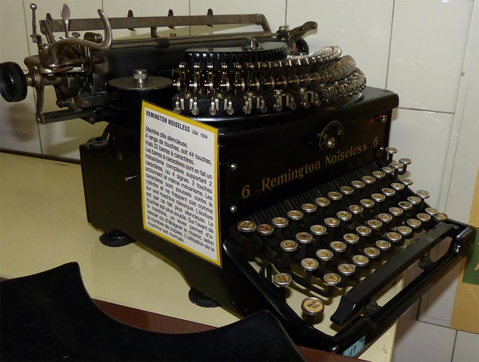 musee de la machine a ecrire schreibmaschinenmuseum museu. Black Bedroom Furniture Sets. Home Design Ideas