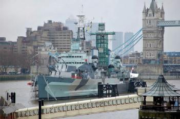 Great Britain (UK): HMS Belfast (Part of Imperial War Museum) in SE1 2JH London