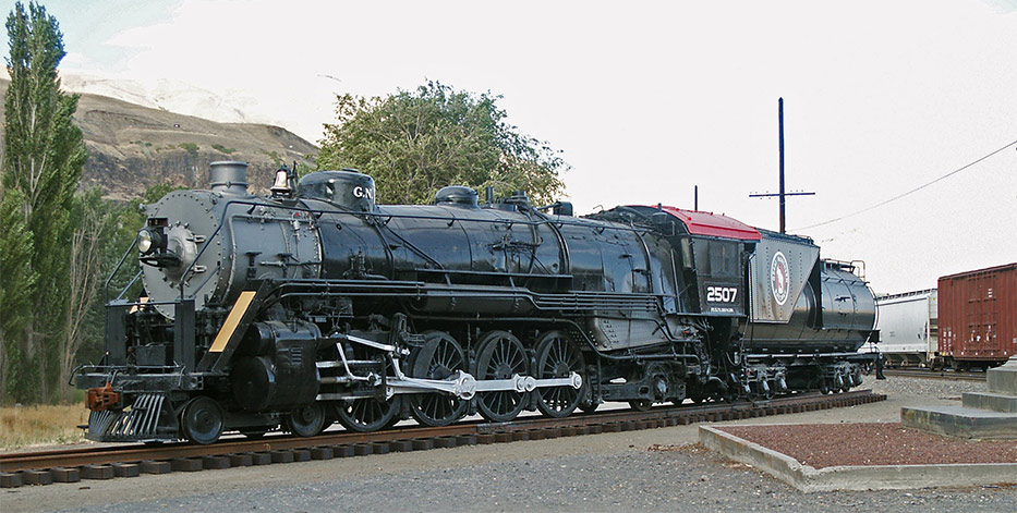 great northern steam locomotive 2507 museum finder guide